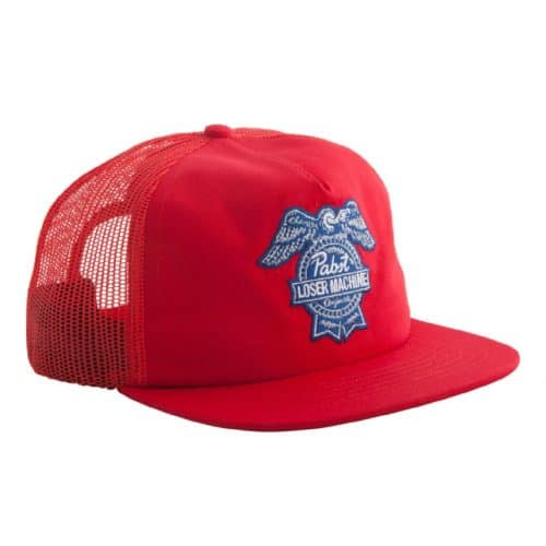 Loser Machine x Pabst Blue Ribbon Badge Snapback Hat Red