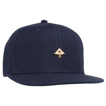 LRG Be Gold Snapback Hat Navy