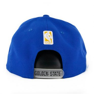 New Era 9Fifty Clear Feature Golden State Warriors Snapback Hat Royal Blue