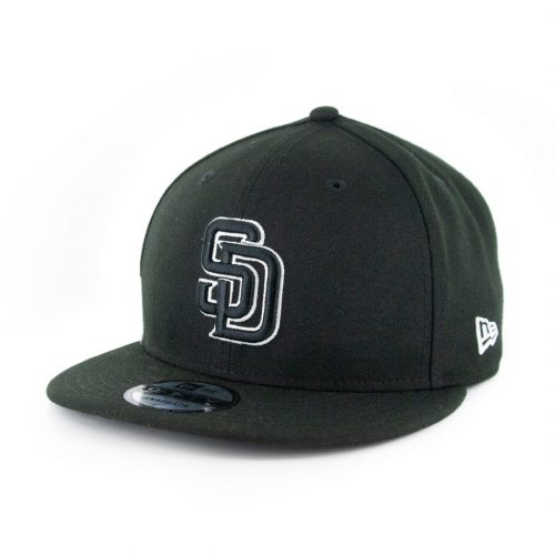 New Era 9Fifty Clear Feature San Diego Padres Snapback Hat Black