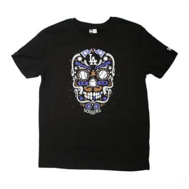 New Era Los Angeles Dodgers Sugar Skull T-Shirt Black