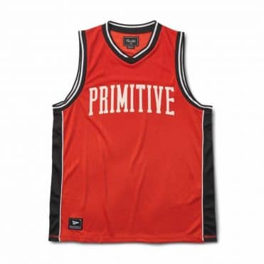 Primitive Champs Basketball Jersey Electric Red