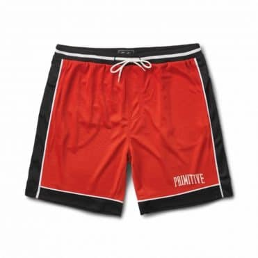 Primitive Champs Basketball Short Electric Red