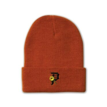 Primitive Sunflower Beanie Orange