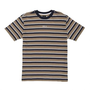 RVCA Curtis Striped Knit T-Shirt Dusty Yellow