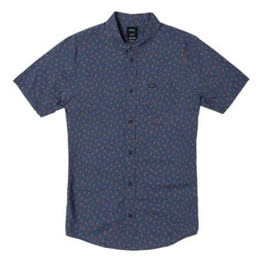 RVCA Prelude Floral Button-Up Moody Blue