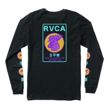 RVCA Take Out Long Sleeve T-Shirt Black