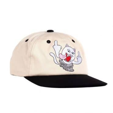 Rip N Dip Nermanian Devil Strapback Hat Tan Black