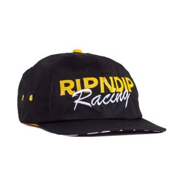 Rip N Dip Speed Racing 5 Panel Strapback Hat Black