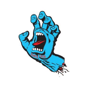 Santa Cruz Screaming Hand Sticker Blue