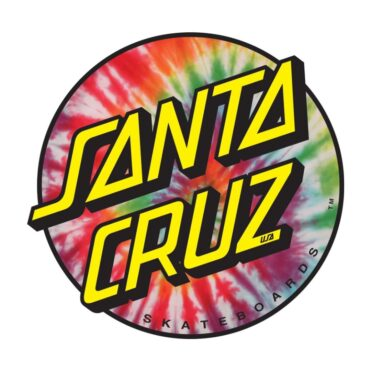 Santa Cruz Tie Dye Dot Sticker