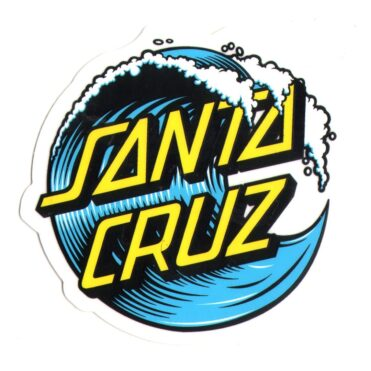 Santa Cruz Wave Dot Sticker