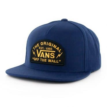 Vans Bolt Action Snapback Hat Dress Blue