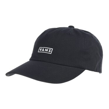 Vans Curved Bill Jockey Strapback Hat Black