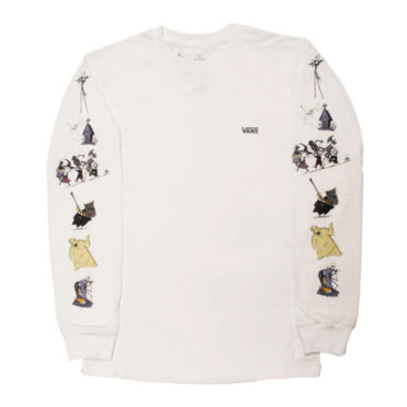 Vans x The Nightmare Before Christmas Characters Long Sleeve T-Shirt White