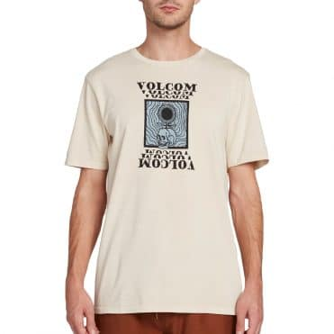 Volcom Hypno Skull T-Shirt White Flash