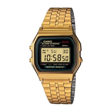 Casio A159WGEA-1VT Watch Gold Black