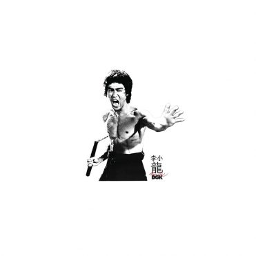 DGK x Bruce Lee Fierce Sticker White