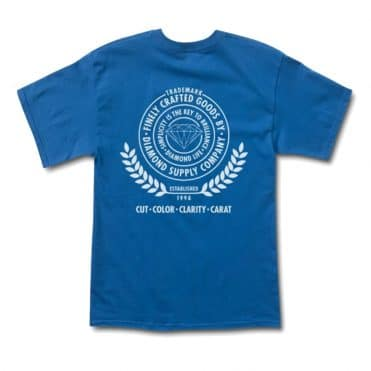 Diamond Supply Co Crafted Goods T-Shirt Royal Blue