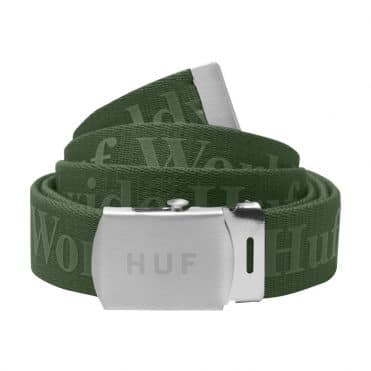 HUF Domestic Military Belt Vineyard Green