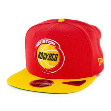New Era 9Fifty Houston Rockets Basic Snapback Hat Red Yellow