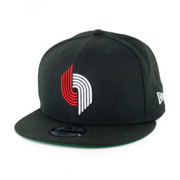 New Era 9Fifty Portland Blazers Basic Snapback Hat Black