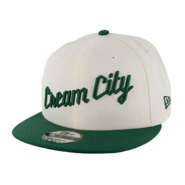New Era 9Fifty Milwaukee Bucks City Series 2019 Snapback Hat Dark Cream