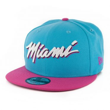 New Era 9Fifty Miami Heat City Series 2019 Snapback Hat Black Teal