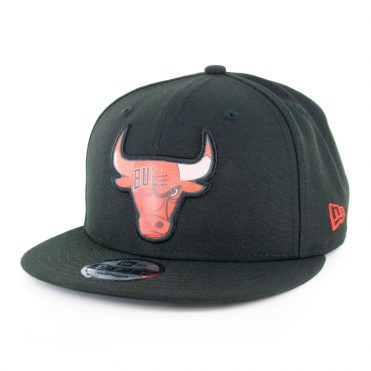 New Era 9Fifty Chicago Bulls Logo Change Snapback Hat Black