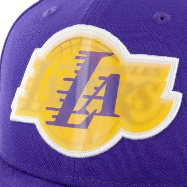 New Era 9Fifty Los Angeles Lakers Logo Change Snapback Hat Purple