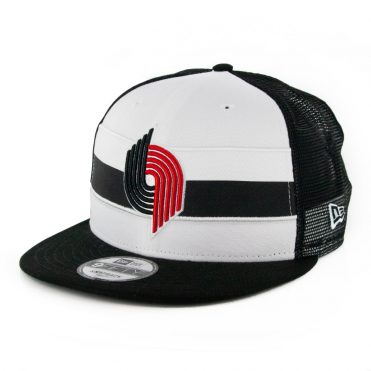 New Era 9Fifty Portland Trail Blazers Stripe Snapback Hat Black White