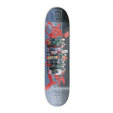 Primitive x Naruto Leaf Village Skateboard Deck Black
