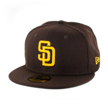 New Era 59Fifty San Diego Padres 2020 Game Authentic On Field Fitted Hat Dark Brown