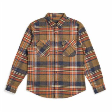 Brixton Bowery Long Sleeve Flannel Shirt Sage