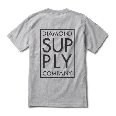 Diamond Supply Co Stacked Type T-Shirt Heather Grey