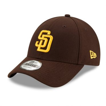New Era 9Forty San Diego Padres The League 2020 Strapback Hat Dark Brown