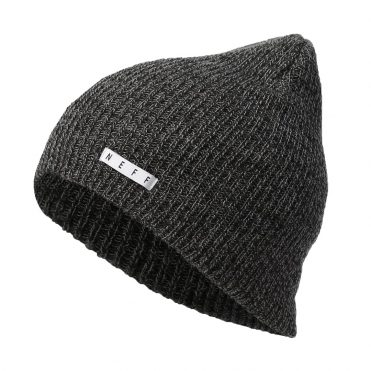 Neff Fold Heather Beanie Black Charcoal