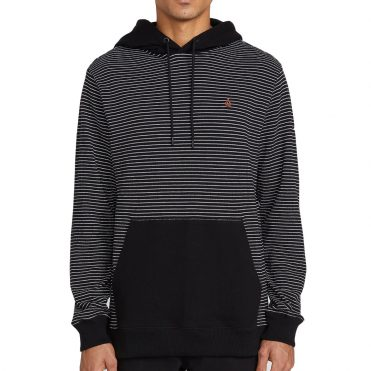 Volcom Allen Pique Hooded Sweatshirt Black