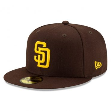 New Era 59Fifty San Diego Padres 2020 Game Authentic Collection On Field Fitted Hat Dark Brown