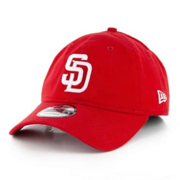 New Era 9Twenty San Diego Padres Core Classic Adjustable Hat Scarlet