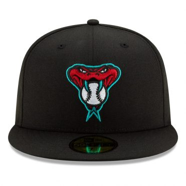 New Era 59Fifty Arizona Diamondbacks 2020 Alternate Authentic Collection On Field Fitted Hat Black