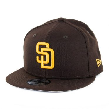 New Era 9Fifty San Diego Padres 2020 Game Snapback Hat Dark Brown