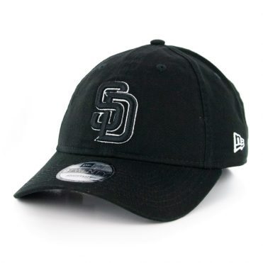 New Era 9Twenty San Diego Padres Core Classic Adjustable Hat Black Logo White Outline