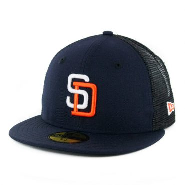 New Era 59Fifty San Diego Padres Gwynn Trucker Fitted Hat Dark Navy