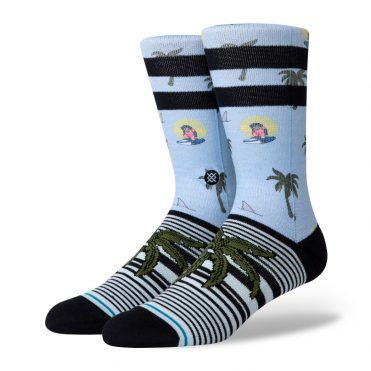 Stance Aloha Monkey ST Sock Light Blue
