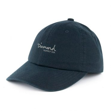 Diamond Supply OG Script Strapback Sports Hat Black