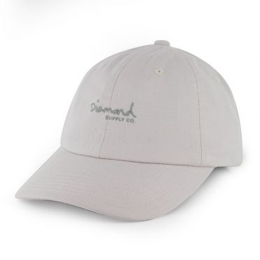 Diamond Supply OG Script Strapback Sports Hat Grey