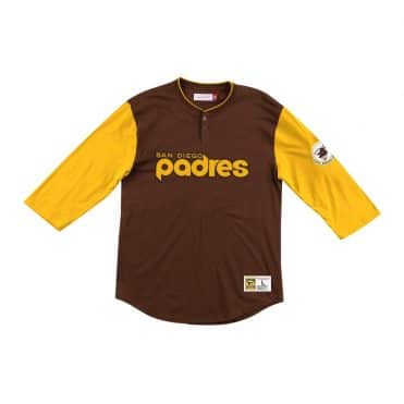 Mitchell & Ness San Diego Padres Franchise Player Henley Jersey Brown