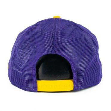 New Era 9Fifty Los Angeles Lakers Heritage Series Trucker Hat Purple