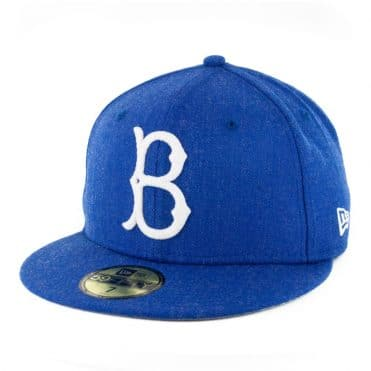 New Era 59Fifty Brooklyn Dodgers Heather Crisp 3 Fitted Hat Heather Royal Blue